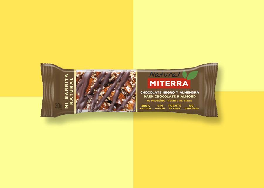 Snack – CHOCOLATE NEGRO Y ALMENDRA (15 barritas)