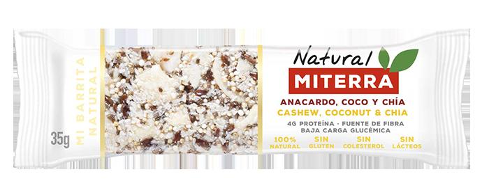Snack – ANACARDO, COCO Y CHÍA (15 barritas)