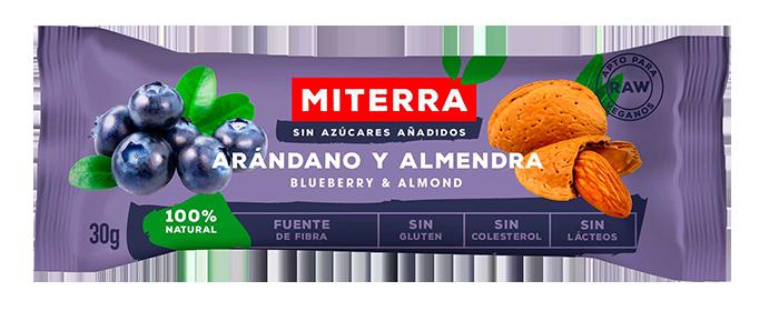 Raw – ARÁNDANO y ALMENDRA (20 barritas)