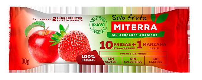 Solo Fruta – 1 MANZANA + 10 FRESAS (20 barritas)