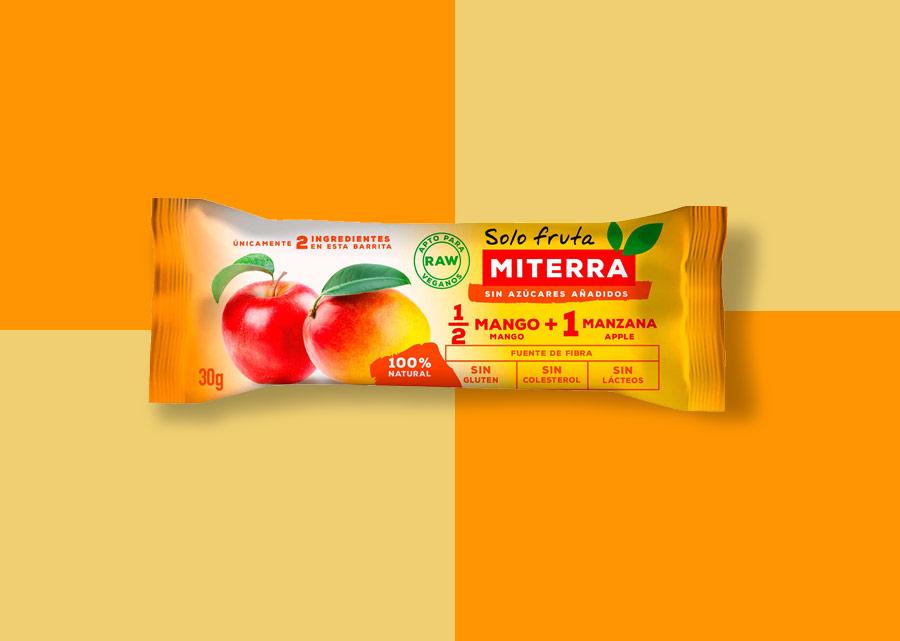 Solo Fruta – 1/2 MANGO + 1 MANZANA (20 barritas)