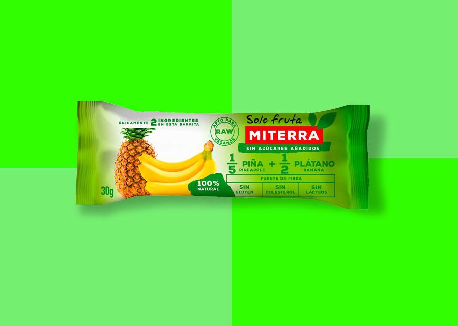 Solo Fruta –1/5 PIÑA y 1/2 PLÁTANO (20 barritas)