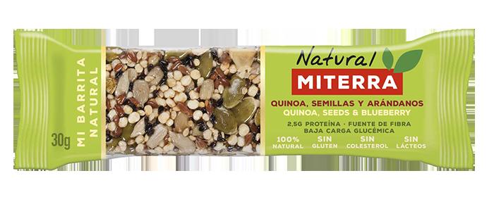 Snack – QUINOA, SEMILLAS Y ARÁNDANOS (15 barritas)